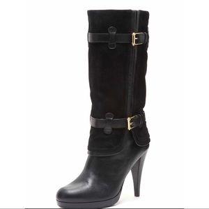 Cole Haan Air Kennedy High Heel Boot Black 5.5